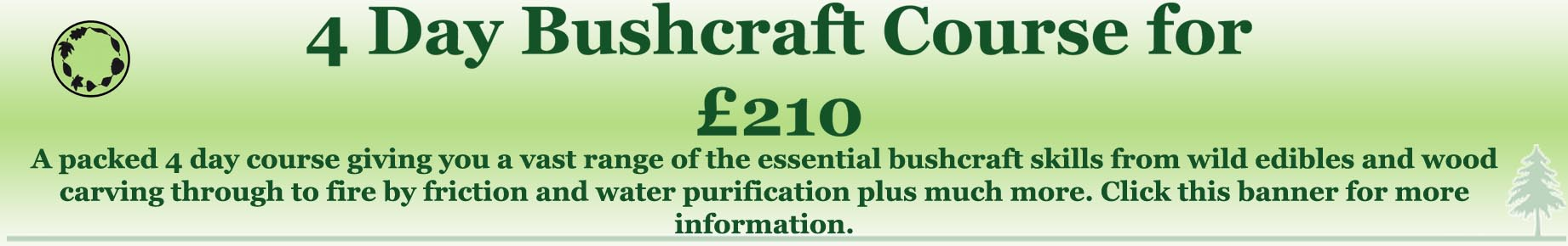 budget bushcraft course
